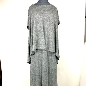 Eileen Fisher Linen Short Sleeve Top M and Skirt L